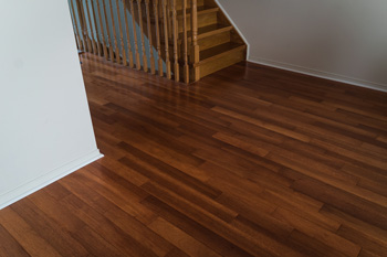 home with hardwood floor staircase