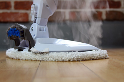 Steam Mopping Floor at Home